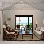 One bed beach house room