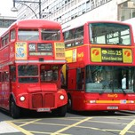 Buses in central London
